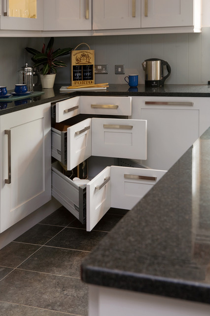 Accuride Drawer Slides Kitchen Transitional with Corner Cabinet Granite Counter