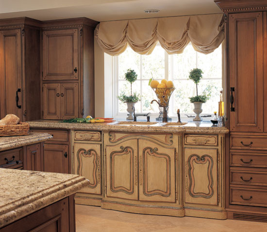 Adjustable Curtain Rod Kitchen Traditional with Antique Antique Sink Base