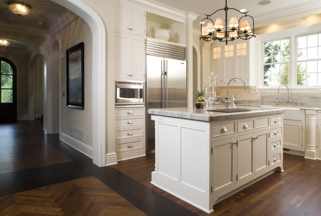 Advantium Kitchen Traditional with Archway Baseboards Bin Pulls