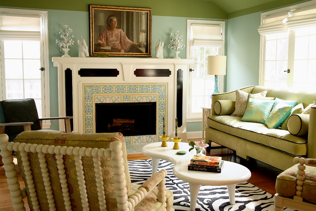 Aero Beds Living Room Transitional with Eclectic Decor Framed Painting