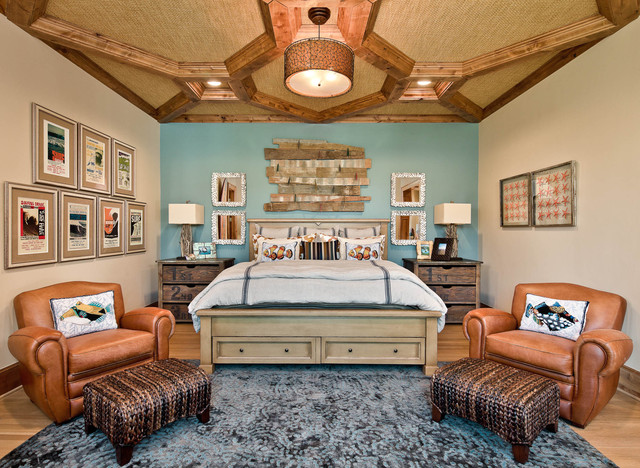 Aico Furniture Bedroom Beach with Blue Accent Wall Ceiling