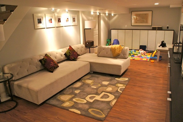 Allure Vinyl Flooring Basement Contemporary with Basement Ikea Media Shared