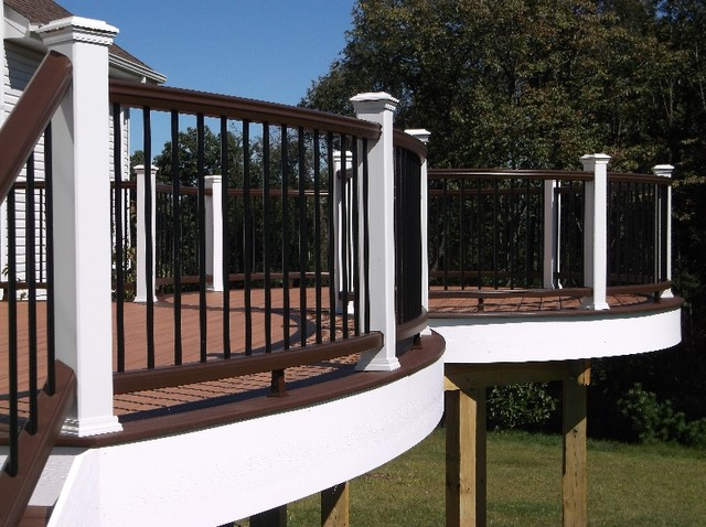 Aluminum Balusters Deck Traditional with Deck Design