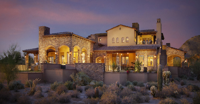 American Metal Roofs Exterior Mediterranean with Manufactured Stone Manufactured Stone