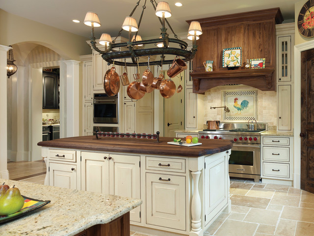 American Standard Cadet 3 Kitchen Traditional with Bertch Cabinetry Chandelier Eggshell