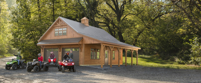 Amish Two Car Garage : Amish garages garage and shed rustic with car