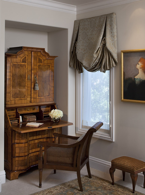 Antique Writing Desk Home Office Victorian with Alcove Antique Area Rug