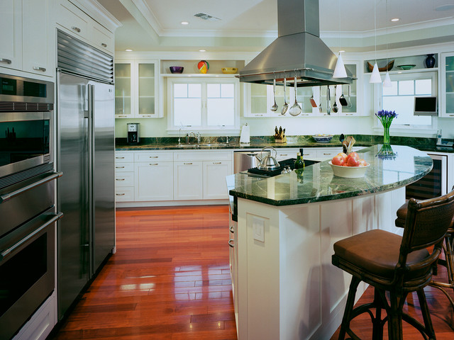 Antler Lamp Kitchen Traditional with Contemporary Countertop Island Island