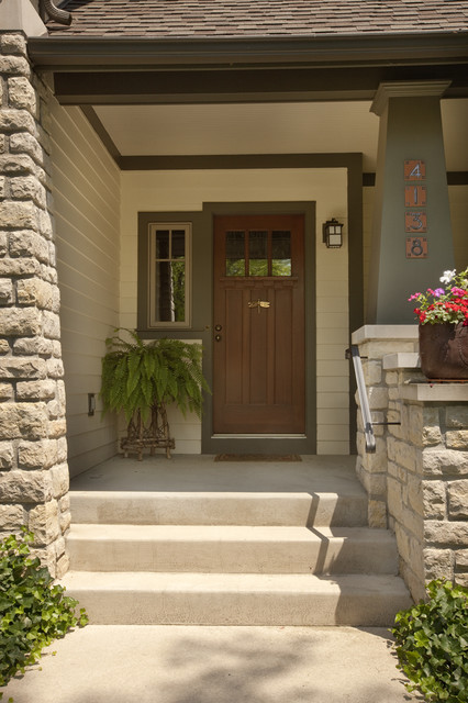 Arroyo Craftsman Entry Craftsman with Container Plant Craftsman Fern