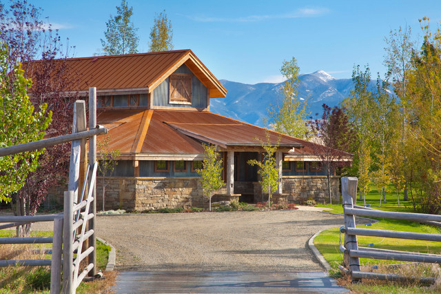 Aspen Roofing Exterior Farmhouse with Aspen Tree Copper Roof