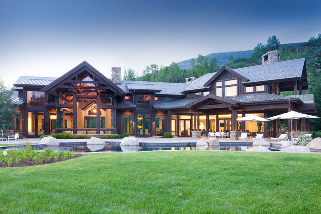 Aspen Roofing Exterior Rustic with Aspen Board and Batten
