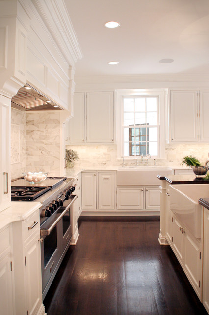 Atlas Plumbing Kitchen Traditional with Apron Sink Ceiling Lighting