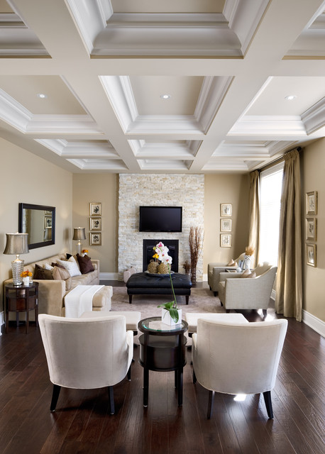 Atria Assisted Living Living Room Traditional with Black Ottoman Brick Veneer