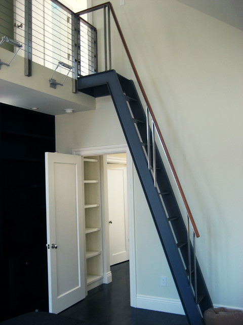 Attic Access Ladder Staircase Modern with Categorystaircasestylemodernlocationsan Francisco