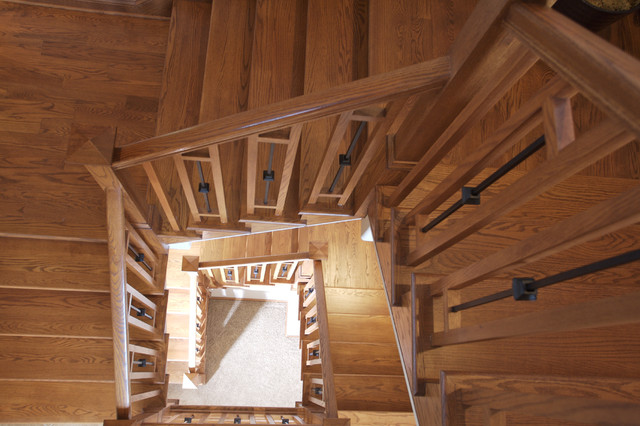 Balusters Staircase Traditional with Arts and Crafts Craftsman