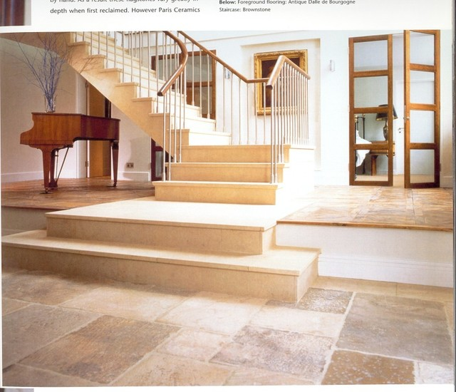 Balusters Staircase Traditional with Antique French Limestone Patina
