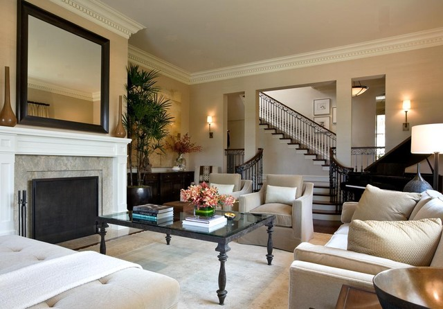 Bar Rail Molding Living Room Contemporary with Crown Molding Crown Moulding