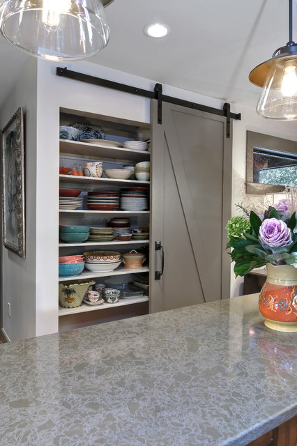 Barn Door Hinges Kitchen Transitional with Barn Doors Pantry Pottery