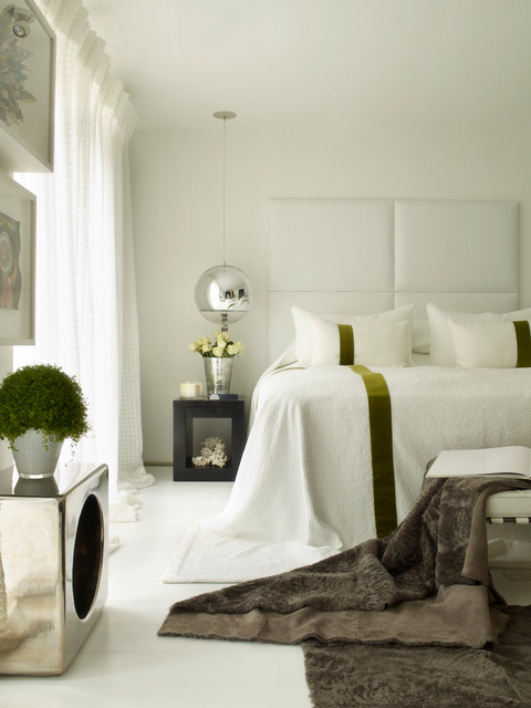 Bedslide Bedroom Contemporary with Bedside Table Curtains Drapes