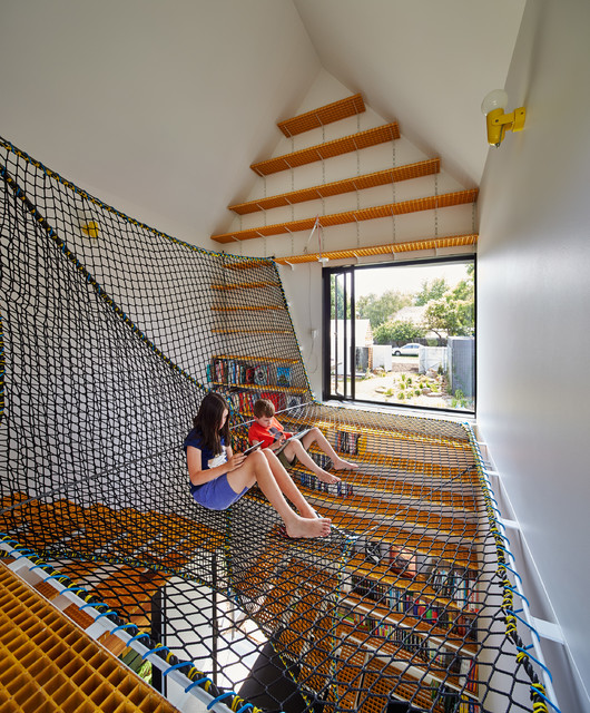 blast zone bounce house Kids Contemporary with hanging net industrial contemporary