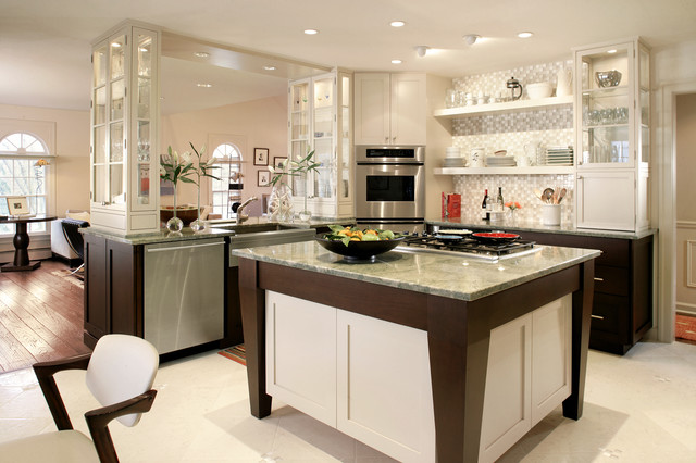 Bodum Glasses Kitchen Contemporary with Apron Sink Beige Cabinets