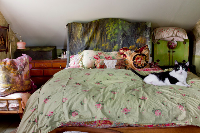 Boho Comforter Bedroom Shabby Chic with Antique Bed Pillows Bedding