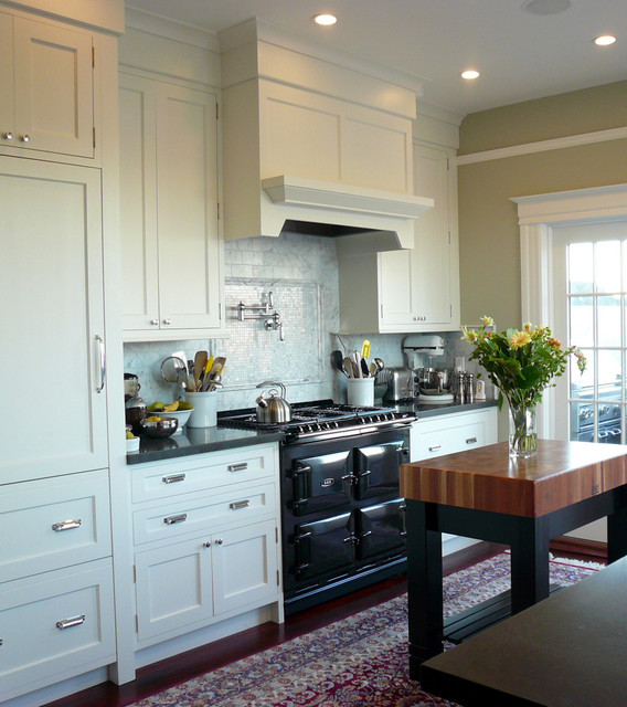 Boos Butcher Block Kitchen Traditional with Caesarstone Countertop Kitchen Marble