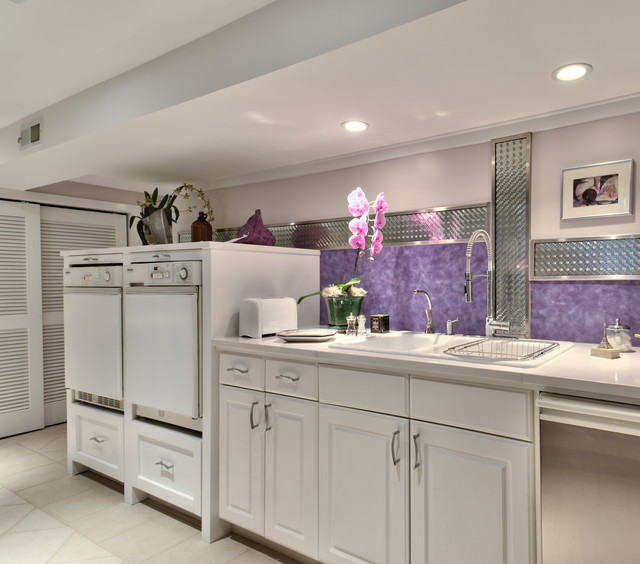 Bosch Axxis Washer Laundry Room Contemporary with Double Sink Kitchen Faucet