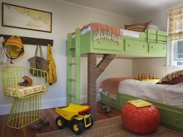 Brahms Mount Kids Beach with Baseboards Beachy Bunk Beds