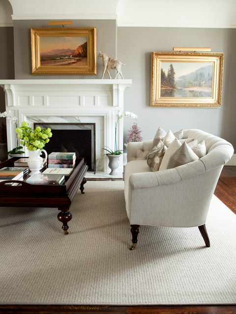 Broadloom Carpet Living Room Traditional with Art Crown Molding Fireplace