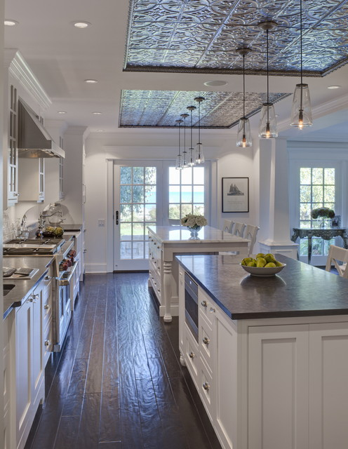 Bruce Hardwood Kitchen Traditional with Breakfast Bar Ceiling Lighting