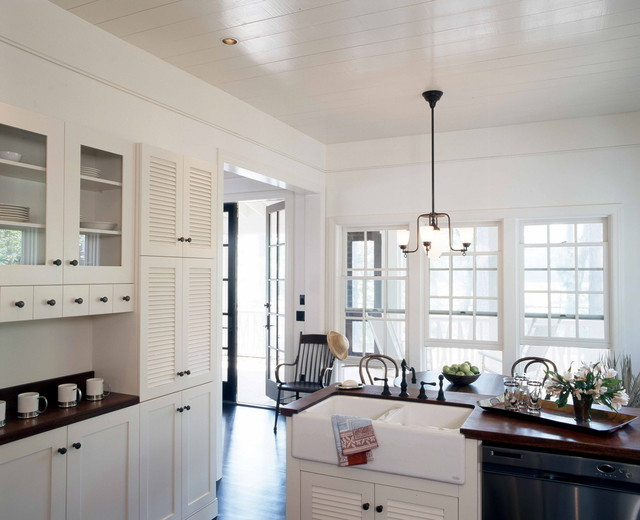 cabinet doors lowes Kitchen Shabby-chic with apron sink country kitchen