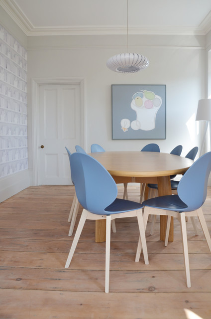 Calligaris Furniture Dining Room Transitional with Beach Home Blue Chair
