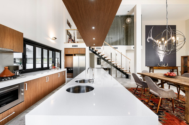 Calphalon Contemporary Stainless Kitchen Contemporary with Coffee Machine Contemporary Dining