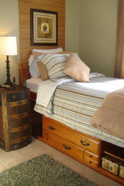 captain's bed Kids Traditional with area rug bamboo blinds
