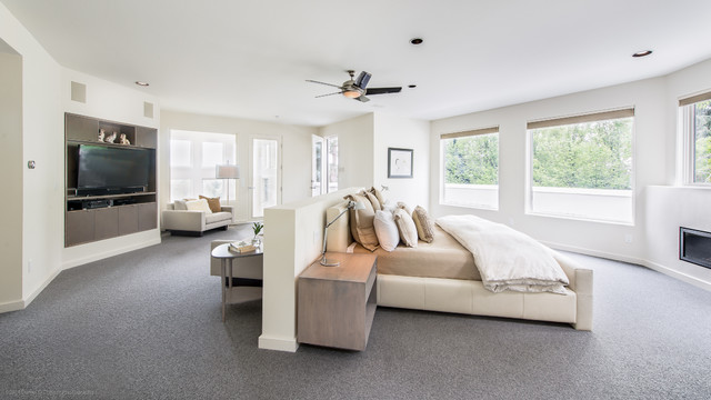 Carpet Lowes Bedroom Contemporary with Big Windows Built In