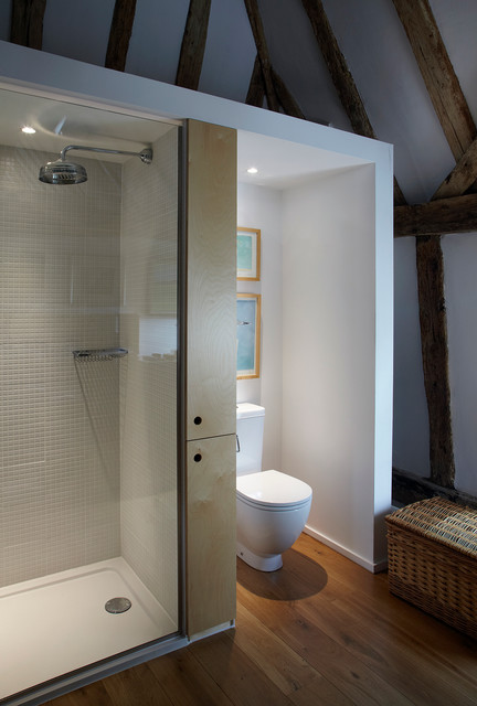 Casp Certification Bathroom Eclectic with Barn Conversion Gray Shower