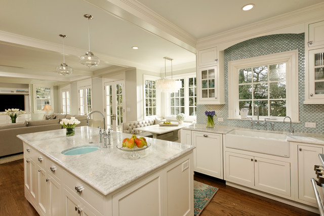 Casp Certification Kitchen Traditional with Banquette Blue Sink Breakfast