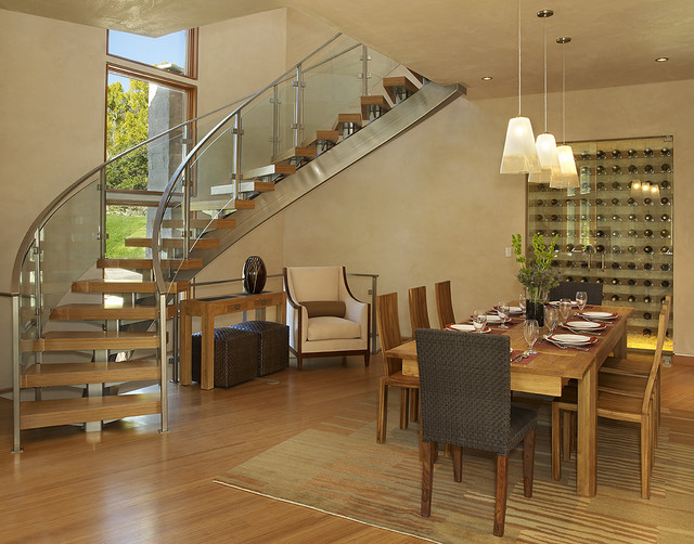 Cathers Dining Room Contemporary with Area Rug Aspen Bamboo