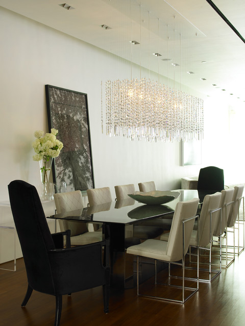 Cheap Crystal Chandeliers Dining Room Contemporary with Glamor Glamour
