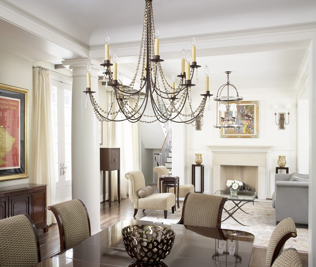 Cheap Crystal Chandeliers Dining Room Traditional with Chandelier Column Dining Room