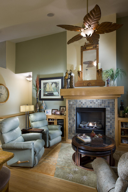 Cheap Recliner Family Room Eclectic with Accent Wall Area Rug
