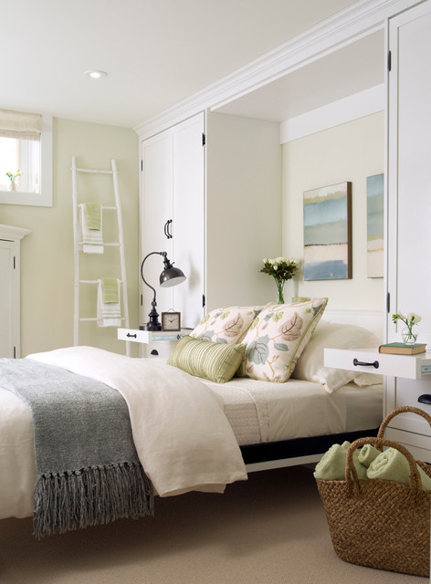chenille throw Bedroom Transitional with abstract art basement botanical
