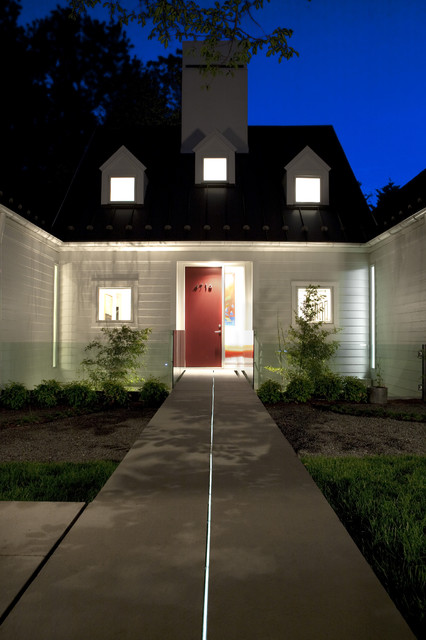 Christmas Pathway Lights Exterior Transitional with Concrete Paving Dormer Windows
