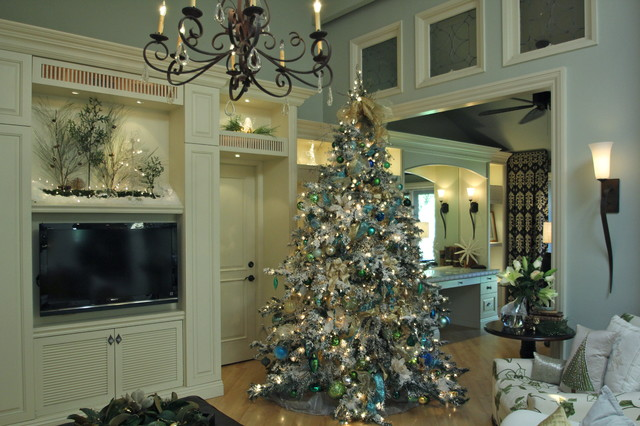 Christmas Pathway Lights Living Room Traditional with Antique Windows Bows Chandelier