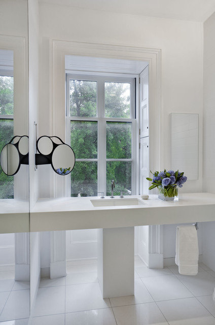 Clean Crawls Bathroom Contemporary with Floating Vanity Frame And