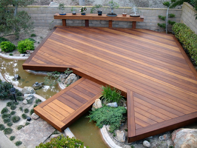 composite decking prices Deck Asian with asian bridge asian deck