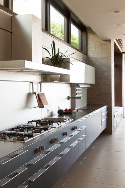 Cookbook Holder Kitchen Contemporary with Clerestory Window Cooktop Floating