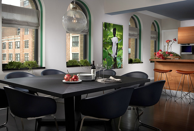 Coral Napkins Dining Room Modern with Bb Italia Chairs Custom