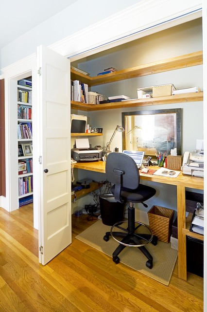 Cord Concealer Home Office Traditional with Alcove Alcove Office Built